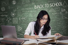 Learner back to school and studying in the class Stock Photography