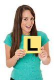 Learner driver Royalty Free Stock Photo