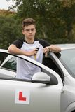 Learner Driver. Failed his driving test Royalty Free Stock Photo