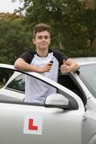 Learner Driver. Passed his driving test stock photos