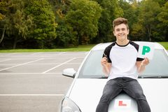 Learner Driver. Passed his driving test Stock Images
