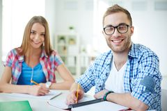 Learners in college Royalty Free Stock Photo