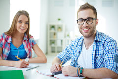 Learners in college Royalty Free Stock Photos