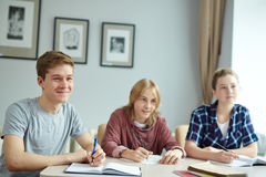 Learners at lesson Royalty Free Stock Image