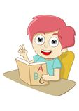 Learning. A child who is learning the alphabet Stock Images