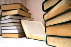 Learning. An image wit stack of books Stock Photos