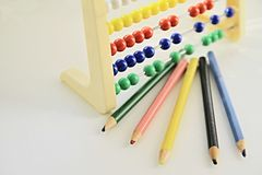 Learning abacus Royalty Free Stock Images