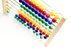 Learning abacus at school Stock Images