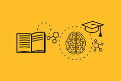 Learning Ability Concept Design. Strategy education, development business skill, solution work, success learn, motivation teaching, training. Back to shool stock illustration