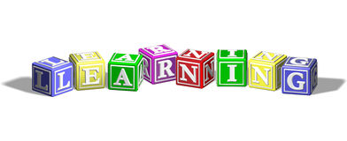 Learning alphabet blocks Stock Images