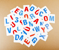 Learning alphabet letters. Royalty Free Stock Images