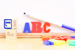 Learning the Alphabets Stock Photo