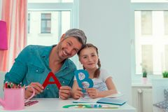 Home education. Learning while being creative at home stock images