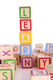 Learning blocks Royalty Free Stock Photos
