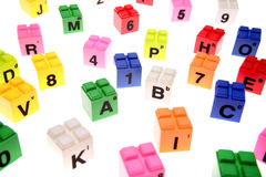 Learning blocks Stock Image