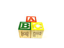 Learning blocks ABC. Learning blocks arranged in a pyramid ABC Royalty Free Stock Image