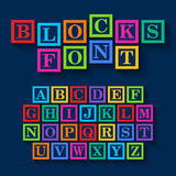 Learning Blocks alphabet Royalty Free Stock Images