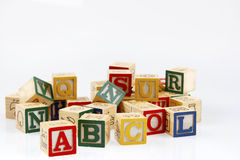 Learning blocks Royalty Free Stock Image