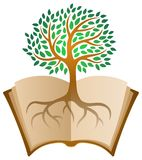 Learning book tree logo Stock Photography