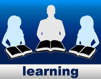 Learning Books Shows School Training And Fiction. Learning Books Indicating Training University And Study Stock Images