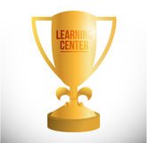 Learning center trophy illustration design Royalty Free Stock Photos