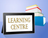 Learning Centre Indicates Educate Knowledge And Computer Royalty Free Stock Photo