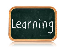 Learning on blackboard banner Royalty Free Stock Photos