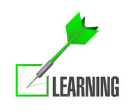 Learning check dart illustration design Royalty Free Stock Photo