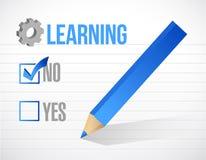 Learning check mark illustration design Stock Image