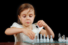 Learning chess Stock Photography