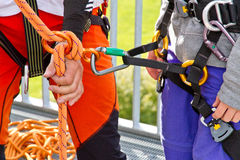 Learning climbing Stock Photography