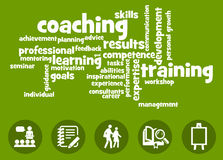 Learning and coaching. Learning, training and coaching in professional life Stock Photos