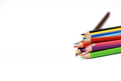 Learning concept. A very nice picture to illustrate some learning concept with colors pencils Stock Photo