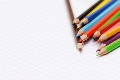 Learning concept. A very nice picture to illustrate some learning concept with colors pencils Royalty Free Stock Photos