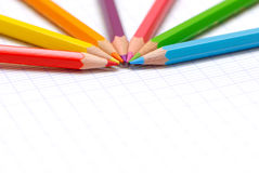 Learning concept. A very nice picture to illustrate some learning concept with colors pencils Royalty Free Stock Images