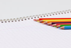 Learning concept. A very nice picture to illustrate some learning concept with colors pencils Royalty Free Stock Image