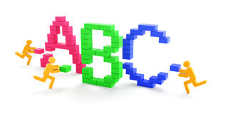 Learning concept with alphabets ABC Stock Photo