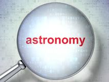 Learning concept: Astronomy with optical glass Stock Photos