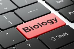 Learning concept: Biology on computer keyboard background Stock Photos