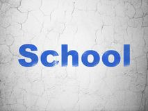 Learning concept: School on wall background Stock Images