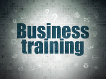 Learning concept: Business Training on Digital Data Paper background Royalty Free Stock Photography