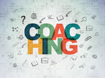 Learning concept: Coaching on Digital Paper Royalty Free Stock Photo