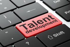 Learning concept: Talent Development on computer keyboard background Stock Image