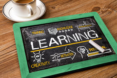 Learning concept with education elements Royalty Free Stock Photography