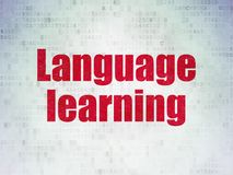 Learning concept: Language Learning on Digital Data Paper background Royalty Free Stock Images