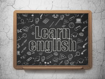 Learning concept: Learn English on School Board Royalty Free Stock Photos