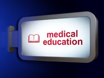 Learning concept: Medical Education and Book on billboard background Royalty Free Stock Photography