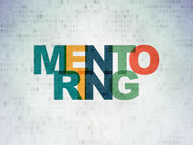 Learning concept: Mentoring on Digital Paper Royalty Free Stock Photography
