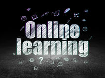 Learning concept: Online Learning in grunge dark Stock Photography
