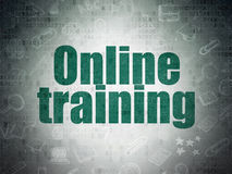 Learning concept: Online Training on Digital Paper Stock Photo